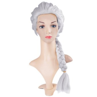 Yika Long Gloved Elsa Cosplay Wig Hair Extensions Tails (Silver) (Intl)