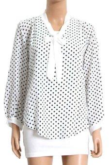 Купить Черную Блузку В Белый Горошек