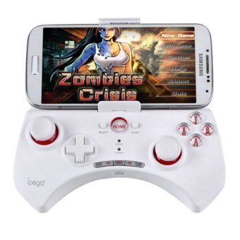 Ipega Mobile Wireless Gaming Controller Bluetooth 3.0 for Apple and Tablet PC with Multimedia Keys - PG-9025 - Putih