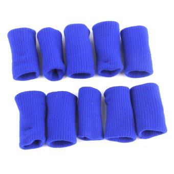 S & F MagiDeal Elastic Nylon Finger Protective Sleeves Guard Pain Relief 10pcs