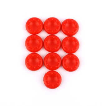 Silicone PS2/3/4 Xbox 360/ONE Analog Controller Thumb Stick Grip Cover Set of 10(Red) (Intl)