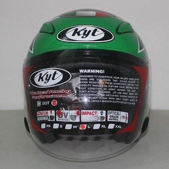 harga KYT Helmet Open Face Galaxy Slide Mugello GP Race - Hijau - Orange Ukuran L Lazada.co.id