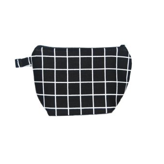 Sundance MIni Makeup Pouch Black Square Basic