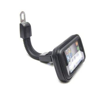 Motorcycle Waterproof Mount Smartphone Case Bag Holder - Large Size - Black