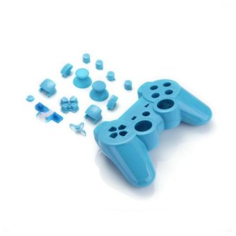 Generic Controller Shell Replacement Case Housing Blue with Buttons for Playstation 3 - Intl