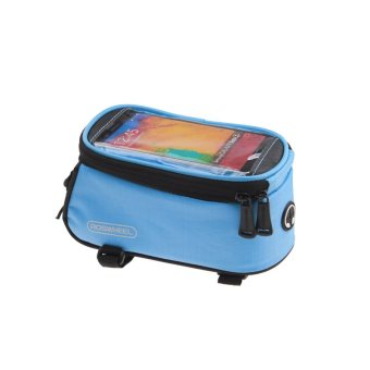 5.5 Inch Front Bicycle Panniers Bike Waterproof Touchscreen Saddle Bag Cycling Bag For Cell Phone Sky Blue (Intl)