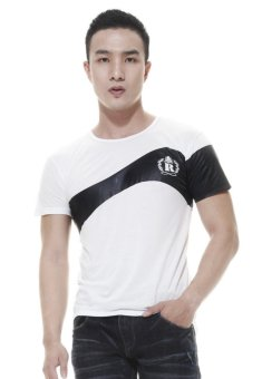 Raofe Wave Standard Men T-shirt Kaos Distro Pria - Putih