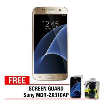 Samsung Galaxy S7 Flat - 32GB - Gold Free Anti Gores + Sony Headset