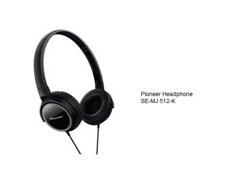 Pioneer Headphone SE MJ512K Hitam