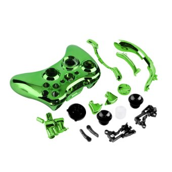Wireless Controller Shell Case Bumper Thumbsticks Buttons Game for Xbox 360 (Green) (Intl)