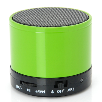 S10 BT 3.0+EDR Wireless Portable Mini Speaker with Mic TF for iPhone iPad Android Cellphone Tablet PC Mp3 and More Bluetooth-enabled Devices Battery Included Green - Intl