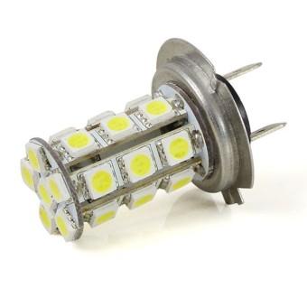 MENGS H7 4W LED Car Light 24x 5050 SMD Car Fog Light Lamp In Warm White