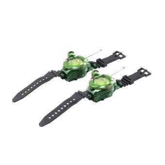 CHEER 7 in 1 0.8 LCD Radio 50~150M Watches Walkie Talkie Lights Mic Set of 2 (Green) (Intl)