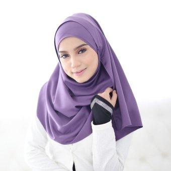 Crosse Mara Hijab - Jilbab Persegi - Satin Premium - Lilac - Ungu Muda