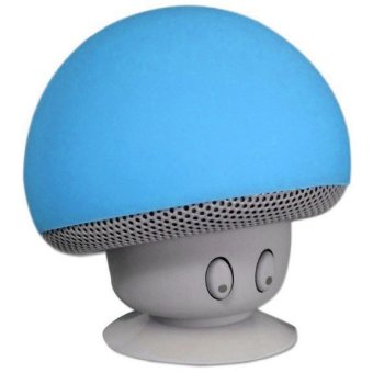 Portable Small Mushroom Style Mini Bluetooth Speaker - Biru