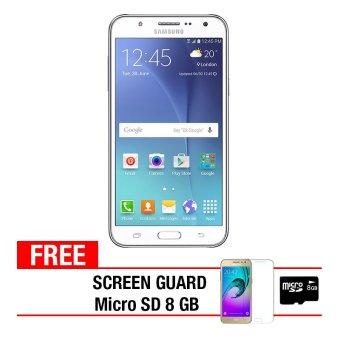 Samsung Galaxy J200 8GB - White + Gratis Anti Gores + Micro SD 8GB
