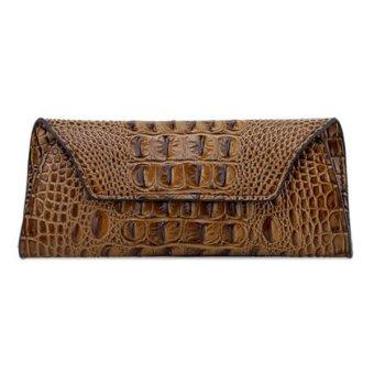 new fashion High-grade women long money wallet handbag navy coffee