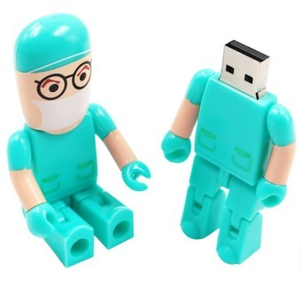 32GB Cartoon Robot Doctor USB 2.0 Flash Memory Drive Stick Pen Thumb U Disk (Intl)