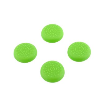 Aukey Rubber Silicone Thumbstick Grips Cover for Sony PS4 (Green)