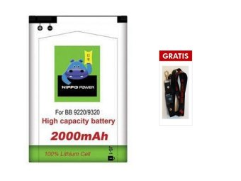 HIPPO Battery DOUBLE POWER for Blackberry Davis/Amstrong terpercaya