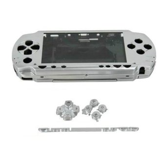 Sliver Full Housing Repair Mod Case + Buttons Replacement for Sony PSP 1000 Console (Intl)