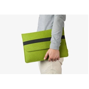 Jo.In Solid Clean Case Bag 11 13 15 for Tablets PC Macbook Air (Green) - Intl