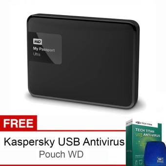 Jual Western Digital My Passport Ultra New 3TB Premium Storage USB 3.0 - Hitam + Gratis Kaspersky USB Anti Virus + Pouch WD Original Harga Termurah Rp 2999000. Beli Sekarang dan Dapatkan Diskonnya.