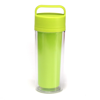 Audew 12oz Double Wall Water Bottle Insulated Portable Travel Drink Coffee Mug Tea Cup Green(INTL)