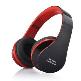 Wireless Bluetooth Stereo Foldable Headset Handsfree Headphones Earphone Earbuds with Mic for iPhone Galaxy HTC (Black) (Intl)