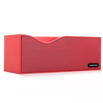 Sardine B1 Bluetooth V2.1 + EDR Stereo Speaker Support FM Radio Hands free LED Display with USB TF Card AUX Line In Port (Red) (Intl)