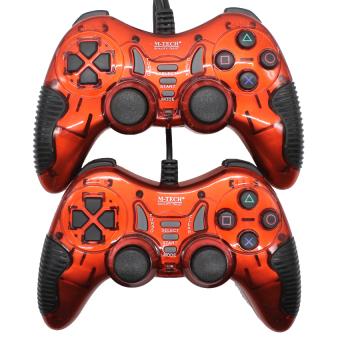 M-Tech 8200 Gamepad Stik Double Getar Turbo - Merah