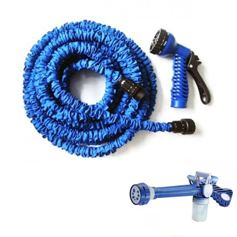 Magic X-Hose Auto Expandable 30 m - Selang Air Fleksibel - Biru Bundling Ez