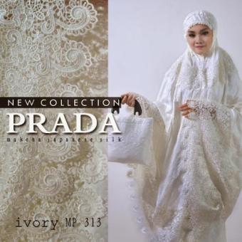 ... Mukena Fashion Muslim Bahan Spandek Sutra. Source · Nuranitex Mukena Premium Sutra Paris Prada Terlaris - Broken White