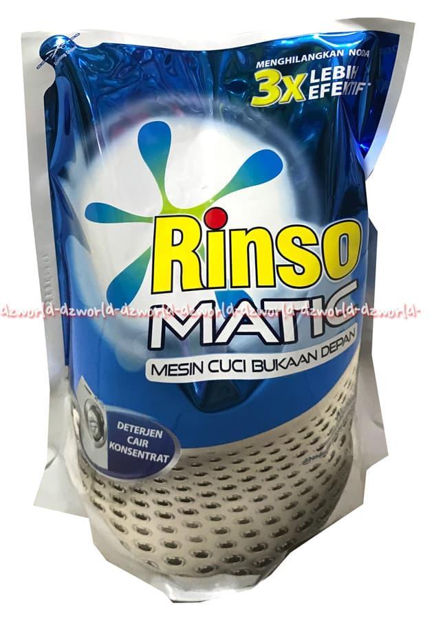 Rinso Matic Detergent Untuk Mesin Cuci Bukaan Depan Deterjen Cair 1.6L