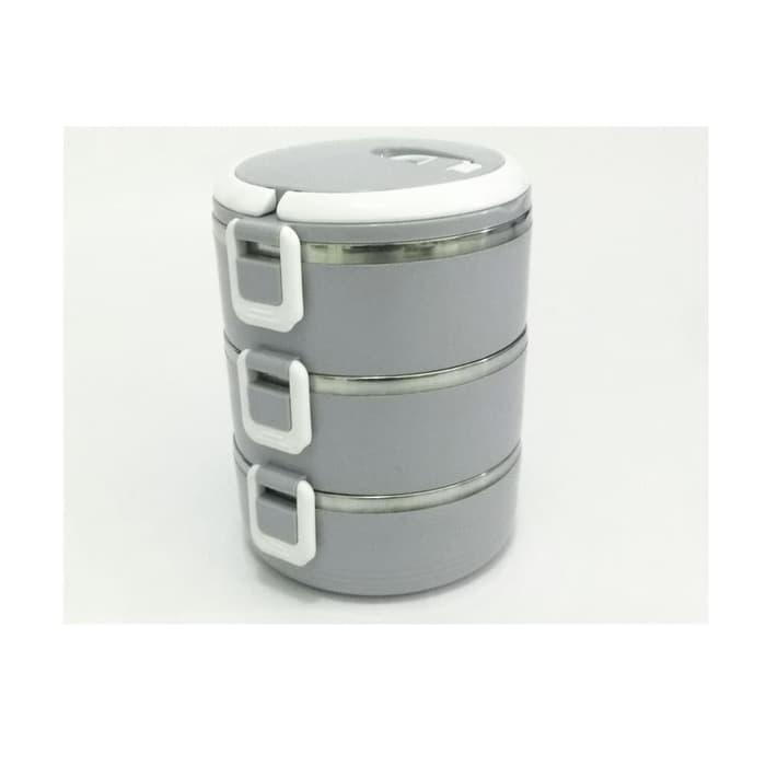 LBOX00203L - 3 Susun Rantang Makan / Kotak Makan Stainless Steel
