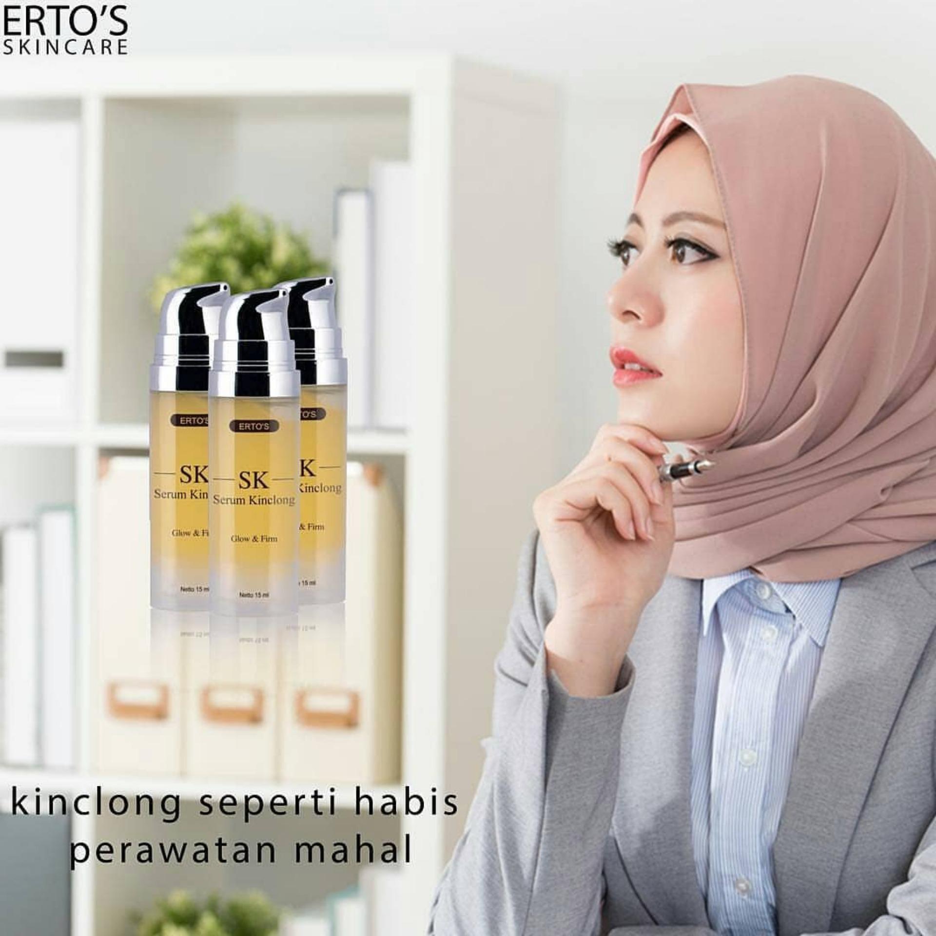 Kelebihan Ori Ertos Serum Kinclong Sk Pencerah Wajah Skincare Original Bpom 3