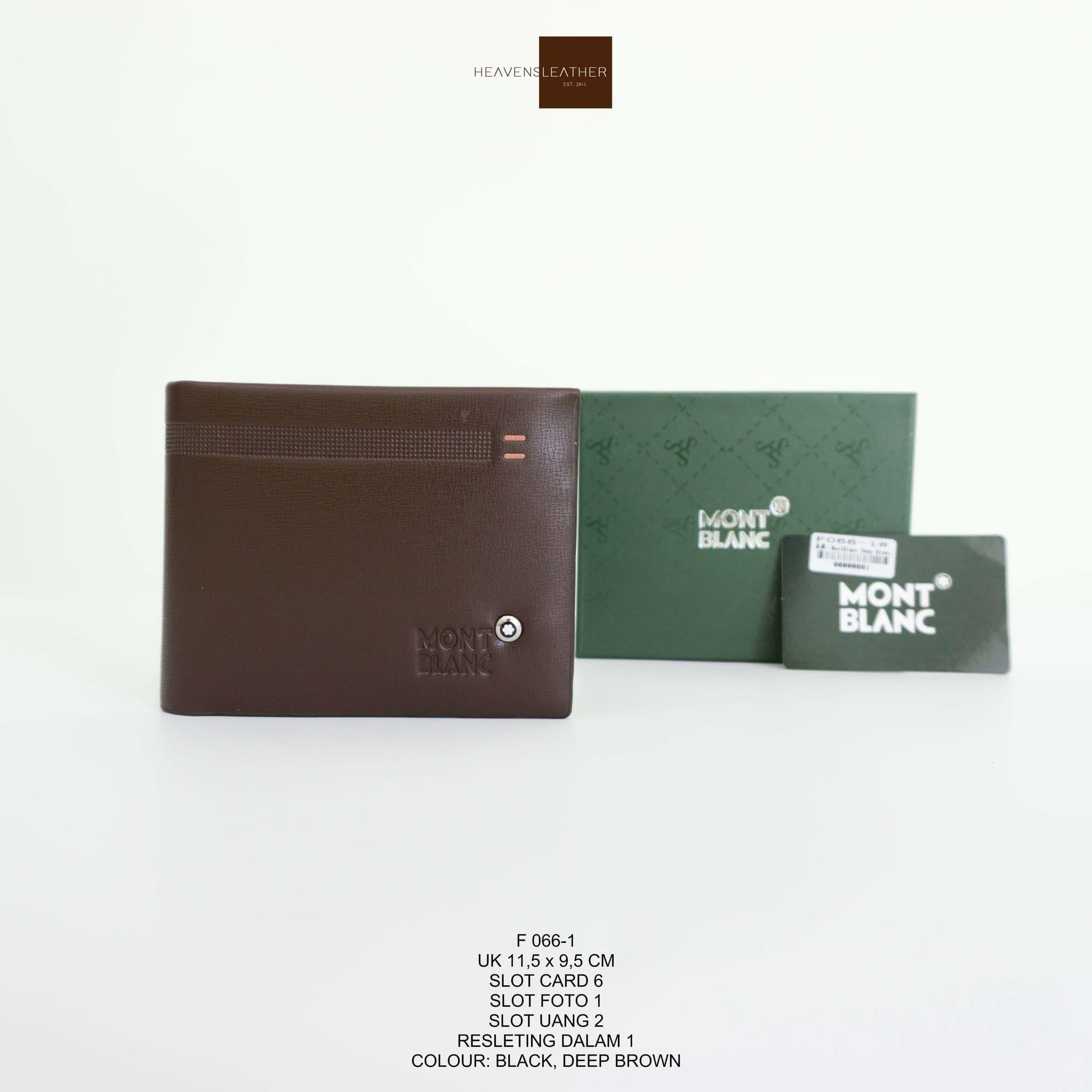 DOMPET PRIA KULIT MONT BLANC IMPORT F066-1 DOMPET COWOK DOMPET TIDUR