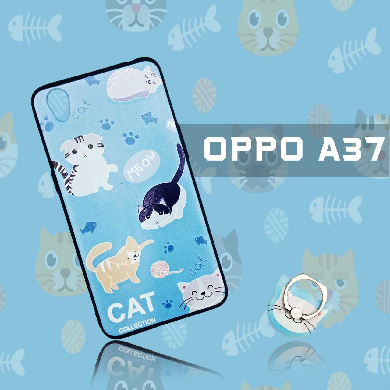Softcase Plus Ring Phone Case New Oppo A37/Neo 9