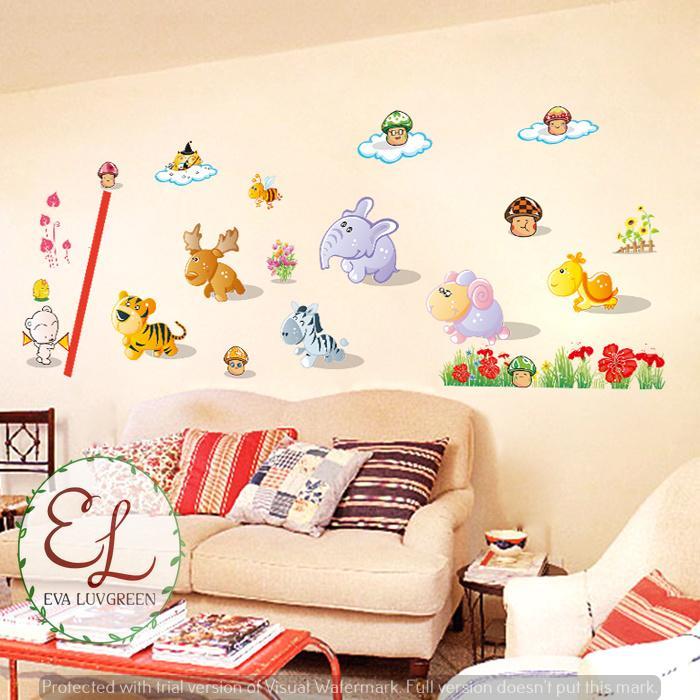 ... Eva Luvgreen Wallsticker Anak Animal Jamur Ukuran 60x90cm/ Stiker Dinding/ Stiker Tembok/ Wallpaper ...