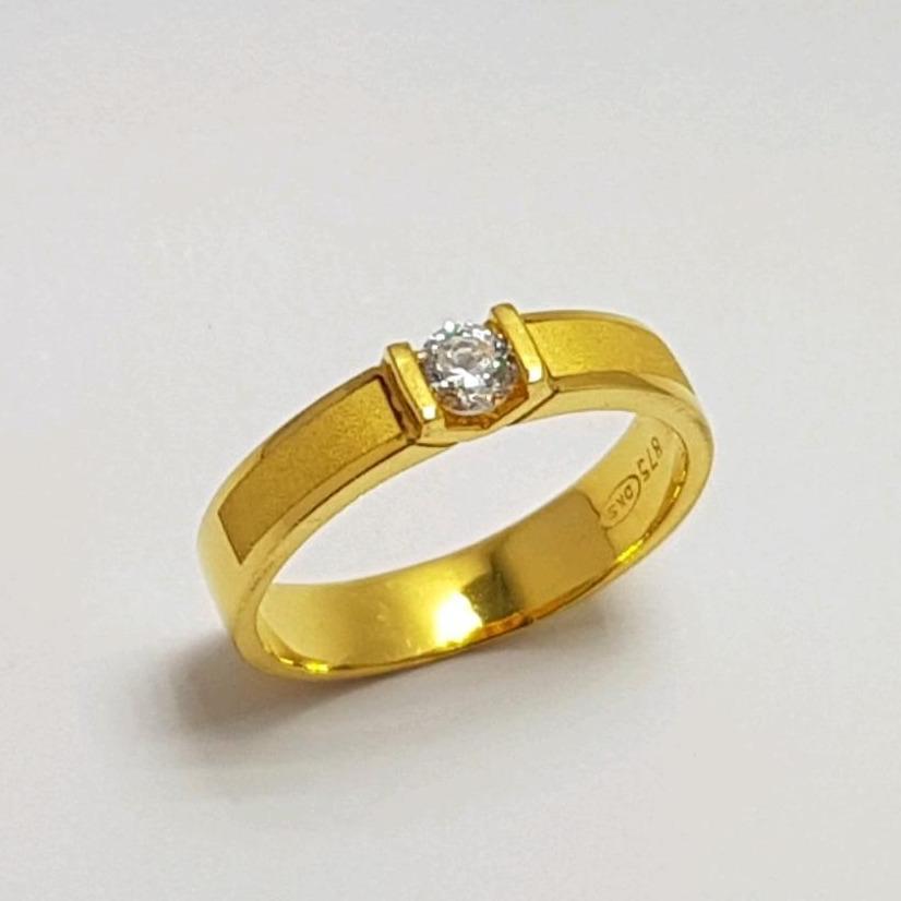 Cincin Emas Asli Kadar 875 Cincin solitaire / CIncin Permata / Cincin Kawin / Perhiasan / Gold Ring