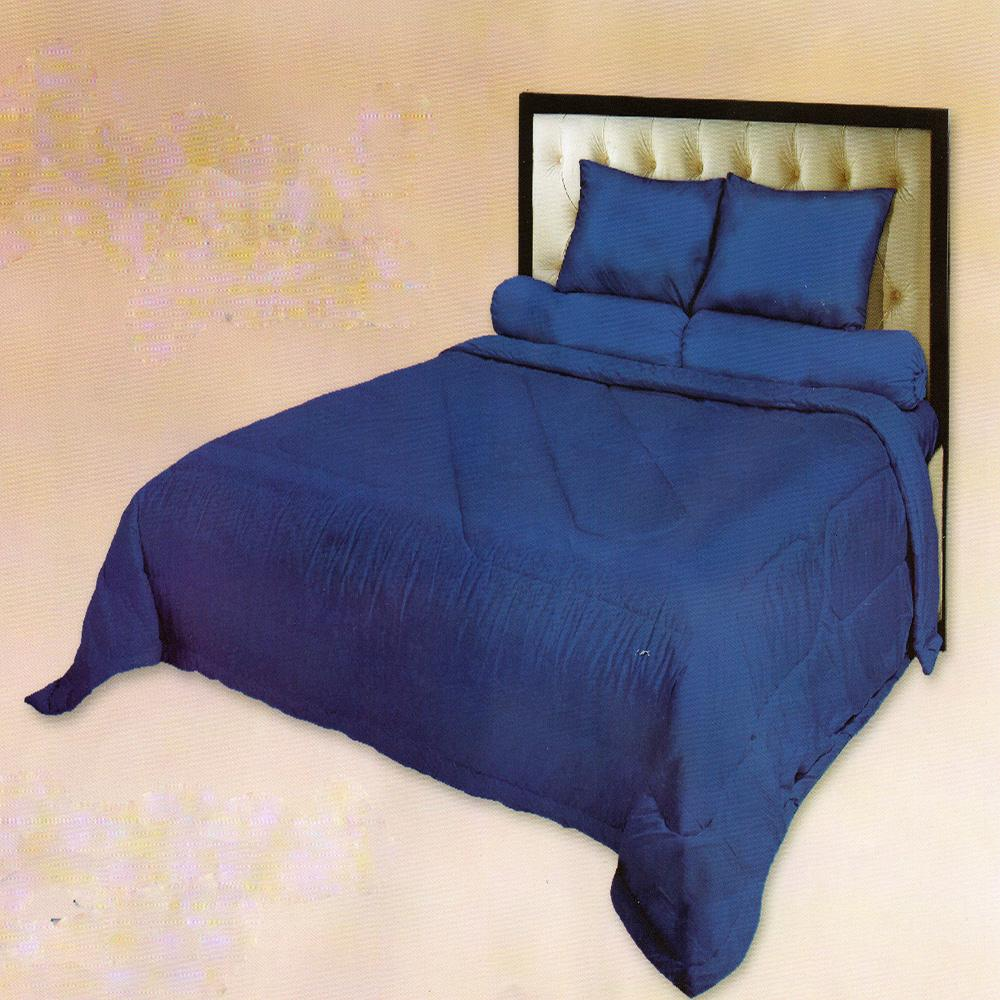 Fata Sprei Polos Jacquard Emboss Single 120x200 cm Warna Imperial Blue