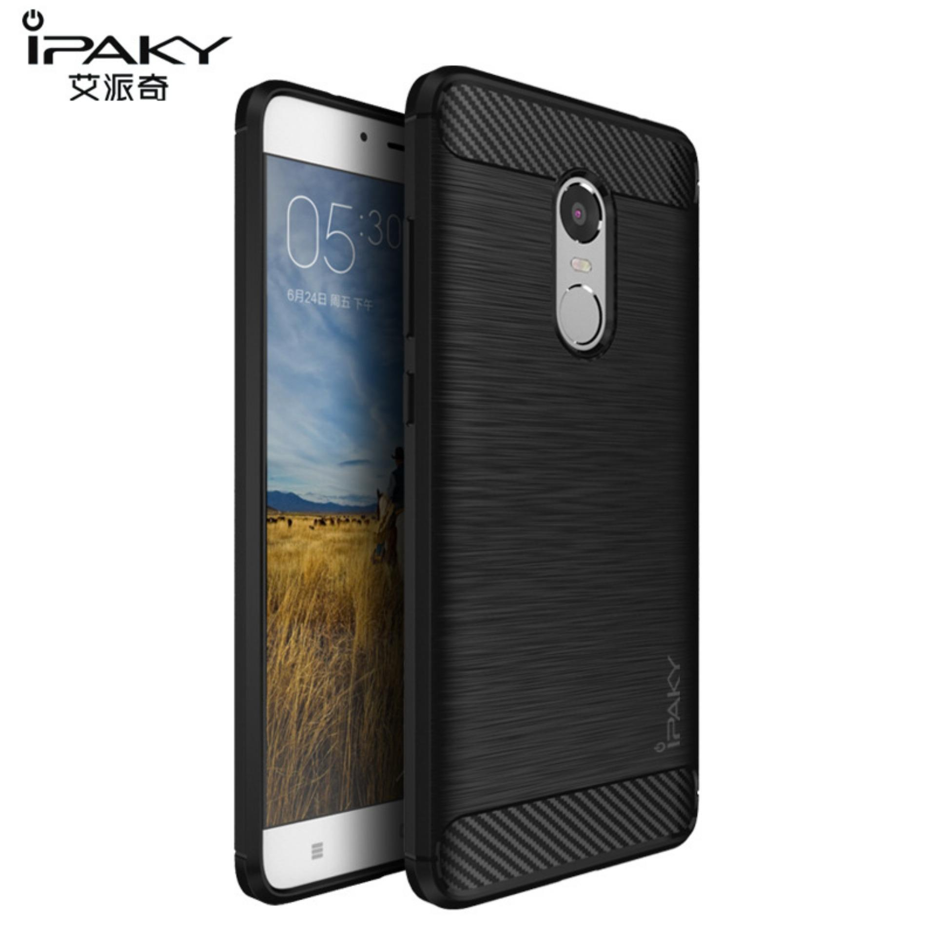 Original Lazada Case Ipaky Shockproof Carbon Hybrid For Xiaomi Redmi Note 4 / Note 4x -