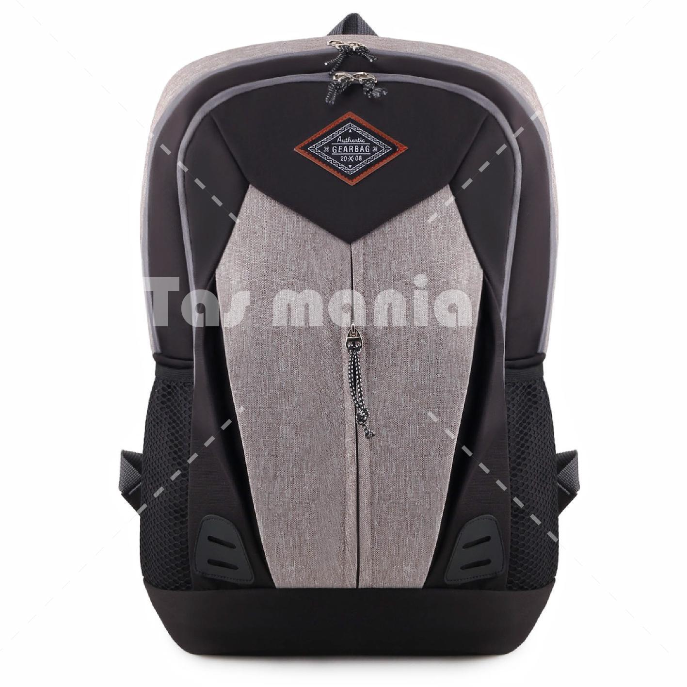 Gambar Produk Rinci Tas Ransel Gear Bag Sylvester 2.0 Dailypack Tas Laptop Backpack - Grey + FREE Tas Selempang Baepack Mini Digger TRIANGLE Canvas Military ...