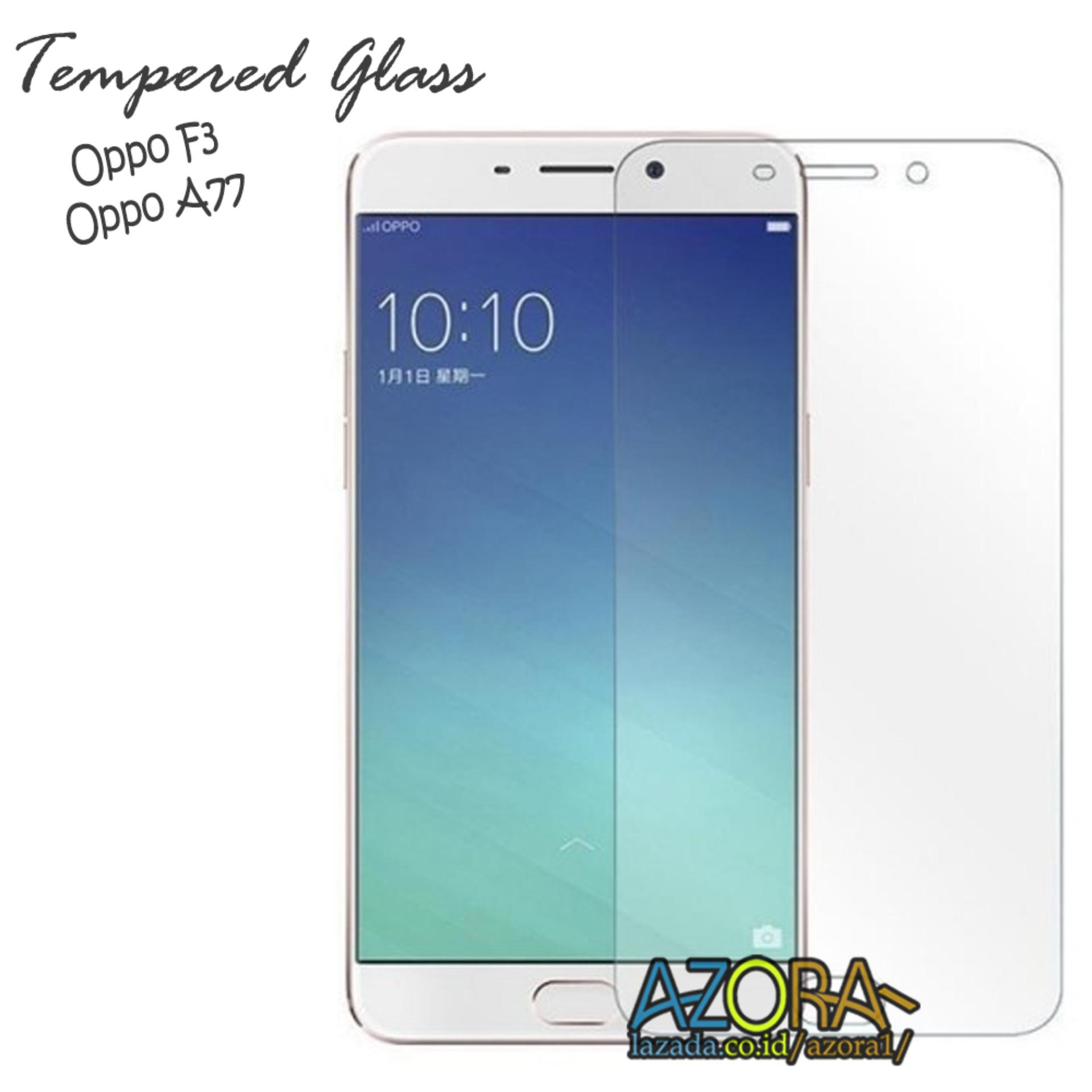 Tempered Glass Oppo F3 / A77 Screen Protector Pelindung Layar Kaca Anti Gores - Bening