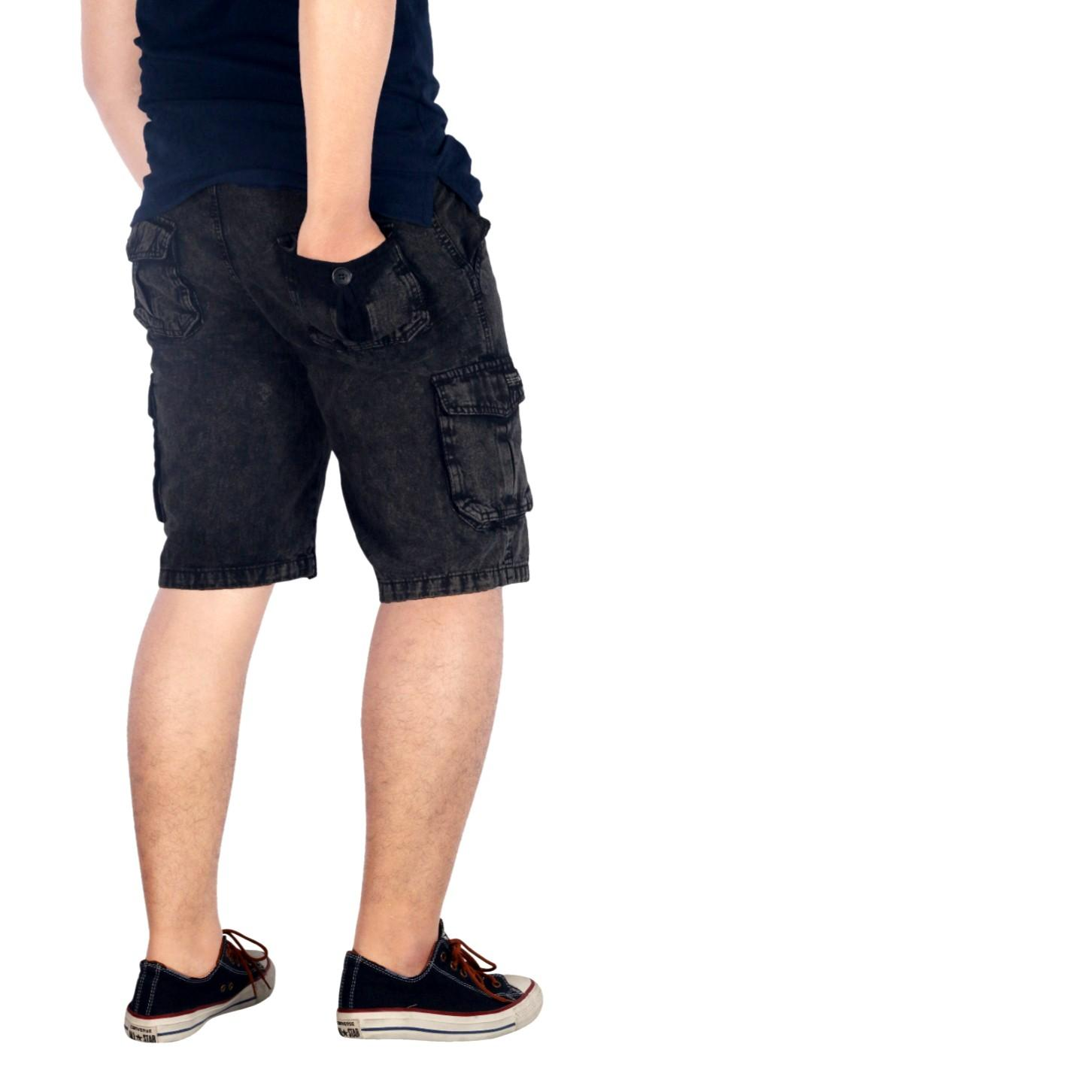 Bsg_Fashion1 Celana Pendek Hitam Polos Distro / Celana Skinny/Celana Pants/Celana Santai/Celana Casual/Celana Motif/Celana Polos/Celana Pria/Celana Cino/Celana Pantai/Celana Denim/Celana Jeans / CELANA JEANS KARGO /CELANA KARGO AN 5573 5574 5576 5575 - 2