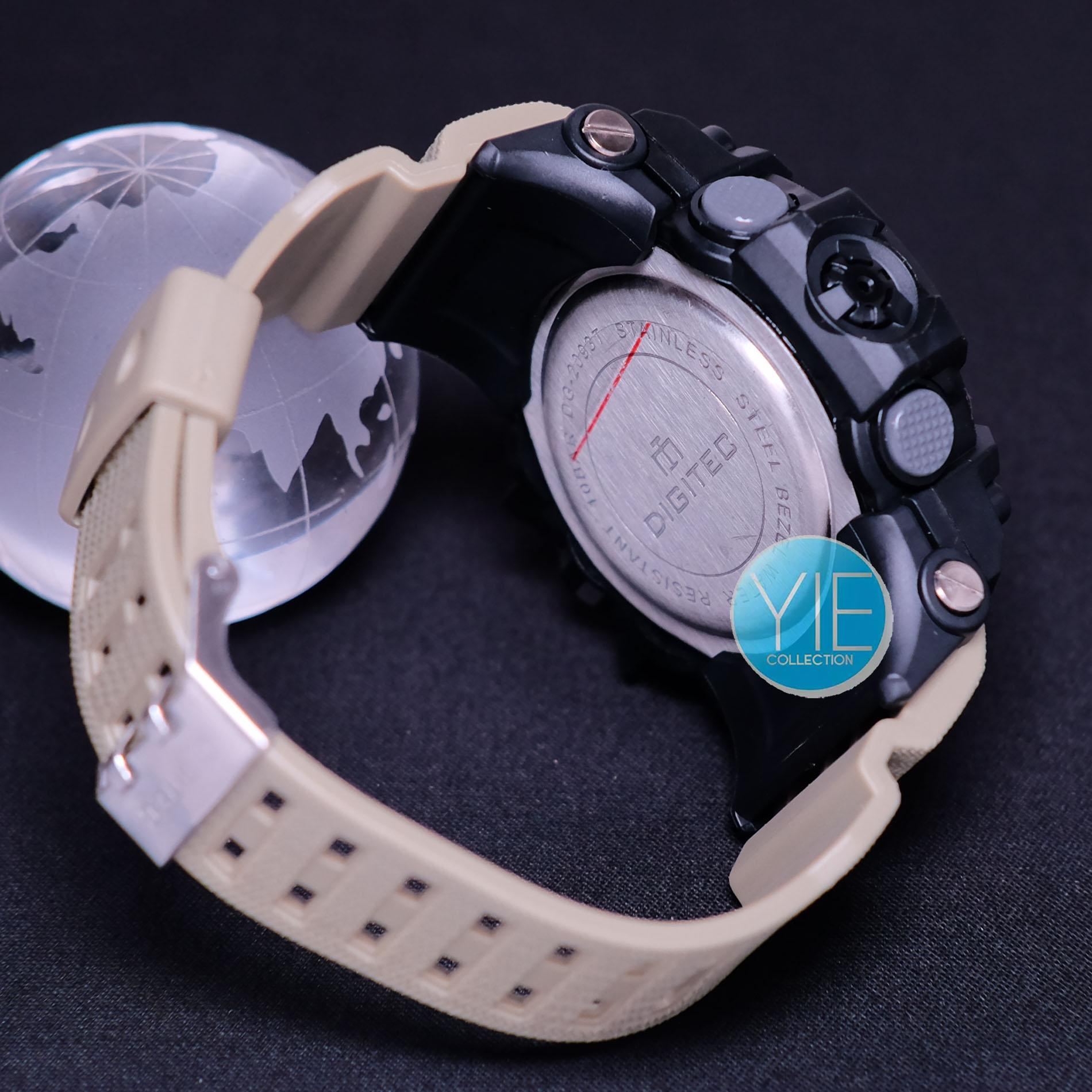 Detail Gambar Digitec Jam Tangan Sport Pria DG 2093 T Dual Time Original Anti Air -