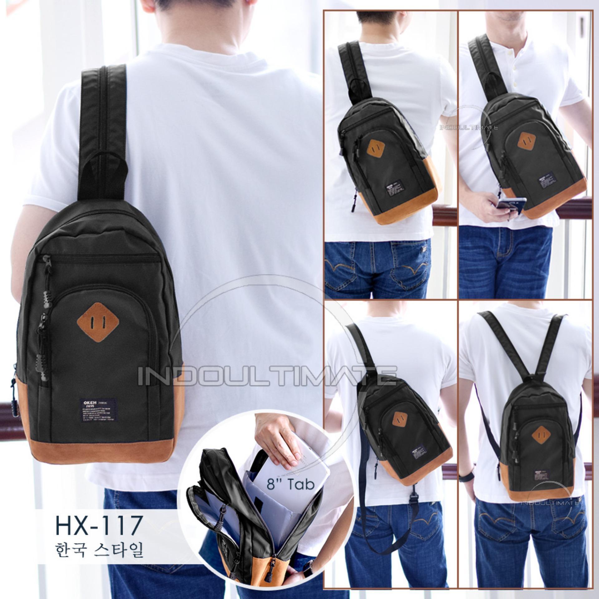 Kehebatan Ultimate Tas Kanvas Selempang Pria Import Jinjing Ransel Im Hx 117 Shoulder Bag