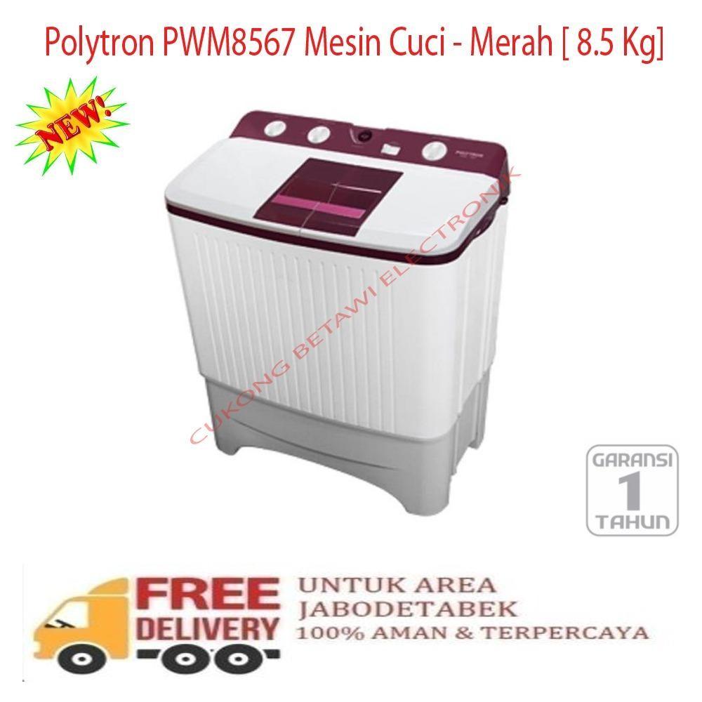 Polytron Pwm8567 Mesin Cuci Merah 8 5 Kg Khusus Jabodetabek Promo Beli 1 Gratis 1