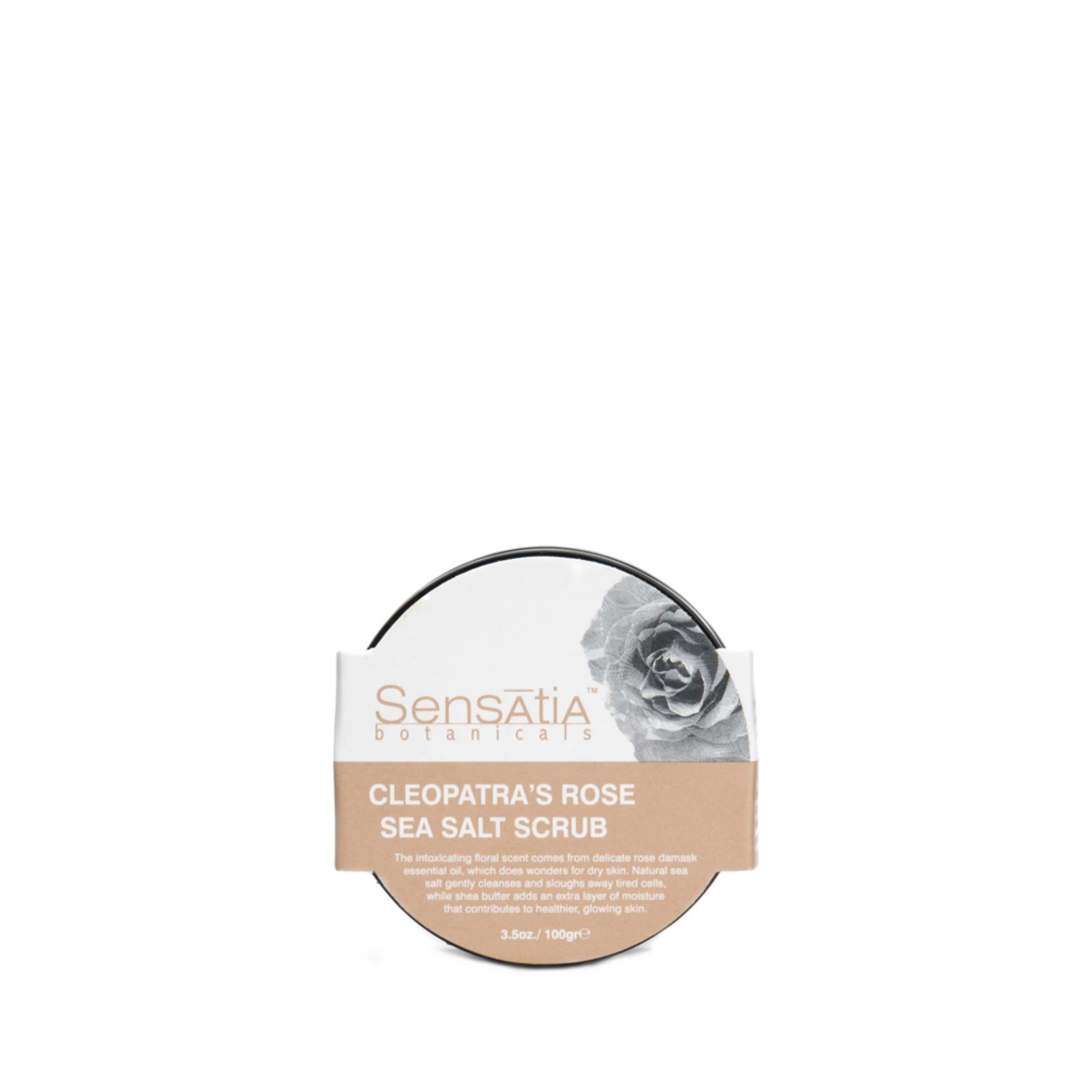 Sensatia Botanicals Natural Facial Cleanser Cleopatras Rose Daftar C Serum Jasmine Blossom 60 Ml Gambar Produk Rinci Sea Salt Scrub 100 Gr Terkini