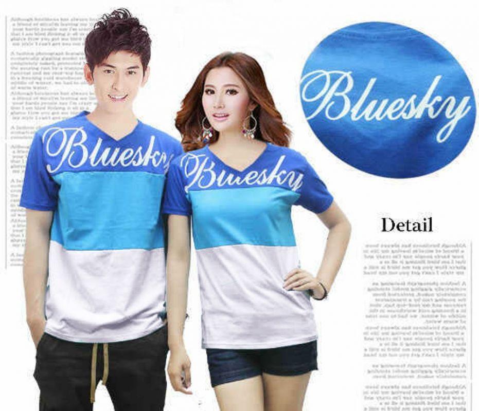 Jakarta Couple - Kaos Couple New Bluesky/Baju Pasangan / Baju Kapel
